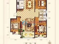 天福世纪城,电梯洋房2楼125平,三室两卫毛坯房89.5万!储车位单算!!