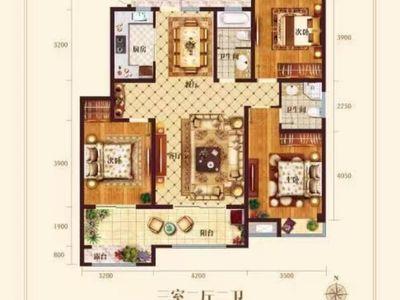 出售天福 世纪城3室2厅2卫122.39平米78.8万住宅