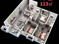 出售中骏 世界城3室2厅1卫113平米71.2万住宅