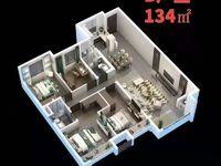 中骏 世界城8楼山户型3室134平米6950元 平