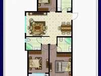 凤城丽景电梯106平,三室山户型,毛坯,带储